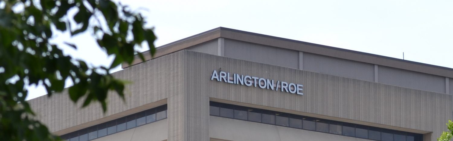 the outside of the Arlington/Roe building
