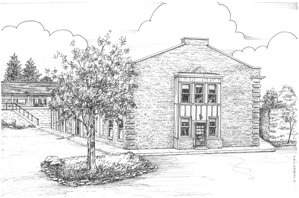 Drawing of the Arlington?Roe Office at 46th and Keystone